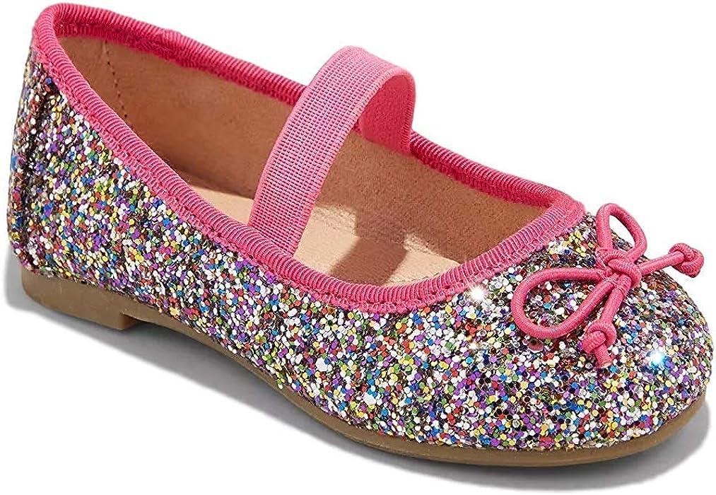Lilys Girls Gliter Slip-On Ballet Flat Shoes Dress Shoes