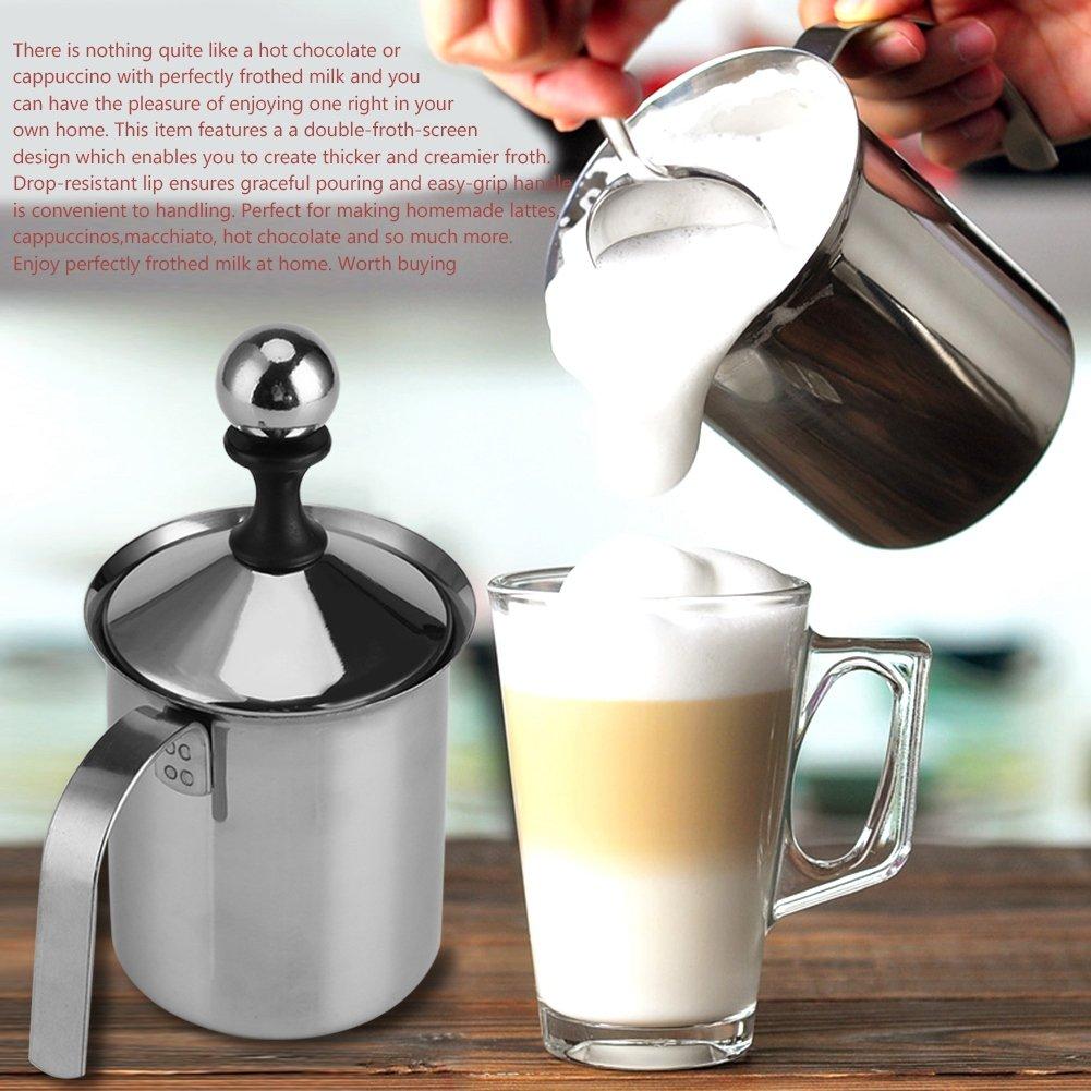 Espumadoras de Leche Manuales de Acero Inoxidable para café, Latte ...