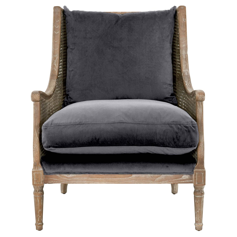 Pleasant Star International Furniture Churchill Velvet Accent Chair In Shadow Gray Creativecarmelina Interior Chair Design Creativecarmelinacom
