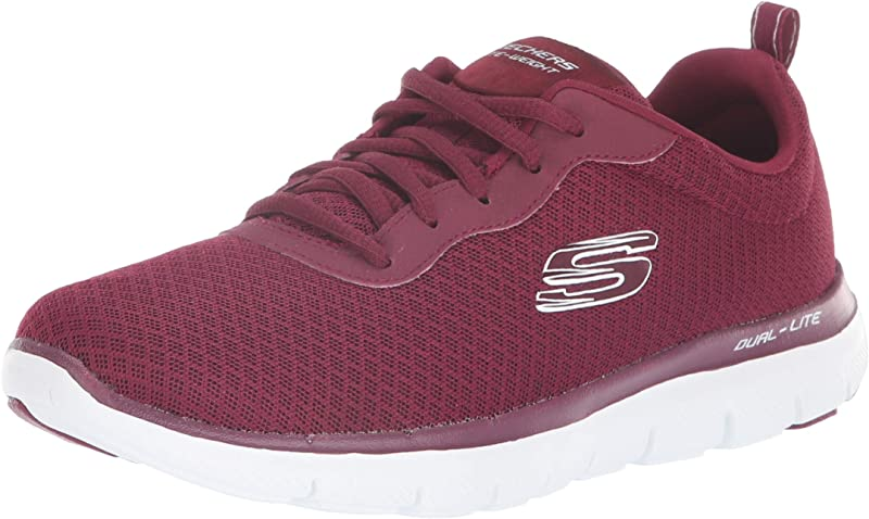 Skechers Flex Appeal 2.0 Newsmaker Sneakers Damen Burgunderrot