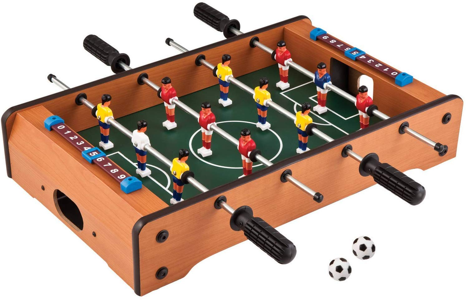 TABU TOYS WORLD Mid-Sized Foosball, Mini Football, Table Soccer Game, 4 Rods, 20 Inches (50 Cms)