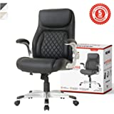 NOUHAUS +Posture Ergonomic PU Leather Office Chair. Click5 Lumbar Support with FlipAdjust Armrests. Modern Executive…