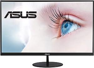 "ASUS VL279HE 27"" Eye Care Monitor, 1080P Full HD (1920 x 1080), IPS, 75Hz, Adaptive-Sync, FreeSync, HDMI D-Sub, Frameless, Slim, Wall Mountable, Flicker Free and Blue Light Filter,BLACK"