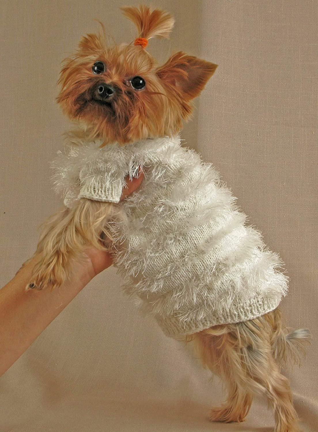 Amazon Com Pet Clothes Dog Knit Sweater Dog Clothing Puppy Sweater Yorkshire Terrier Clothes Coat Pet Jumper Puppy Xs Size Outfit Small Handmade