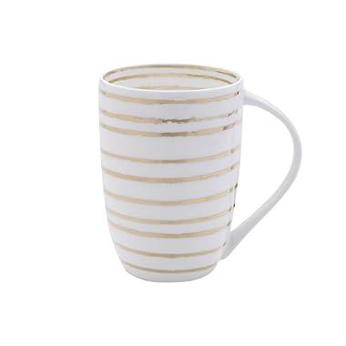 Mikasa Bone China Coffee Mug, 16-Ounce, Swirl White/Gold
