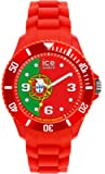 ICE-Watch - Montre Mixte - Quartz Analogique - Ice-World - Portugal - Big - Cadran Multicolore - Bracelet Silicone Rouge - WO.PT.B.S.12