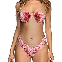 chicolife Mujeres bañador Bikini de Impresion 3D Falso de una Pieza Trajes de baño Traje de baño Traje de baño Monokini…