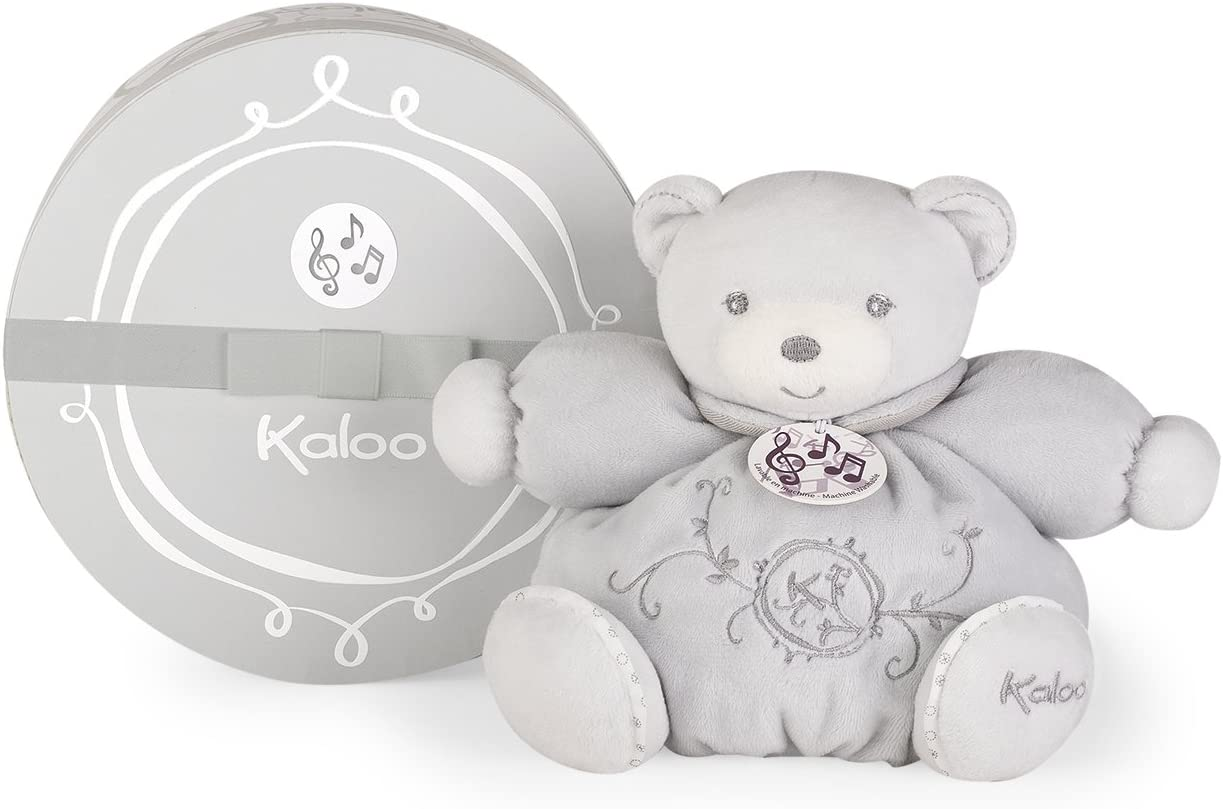 Kaloo Musical Chubby Bear Grey - Small for Ages 0+