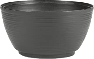 "product image for Bloem PB12908 Dura Cotta Plant Bowl Planter 12"" Charcoal, 2 Gallons"