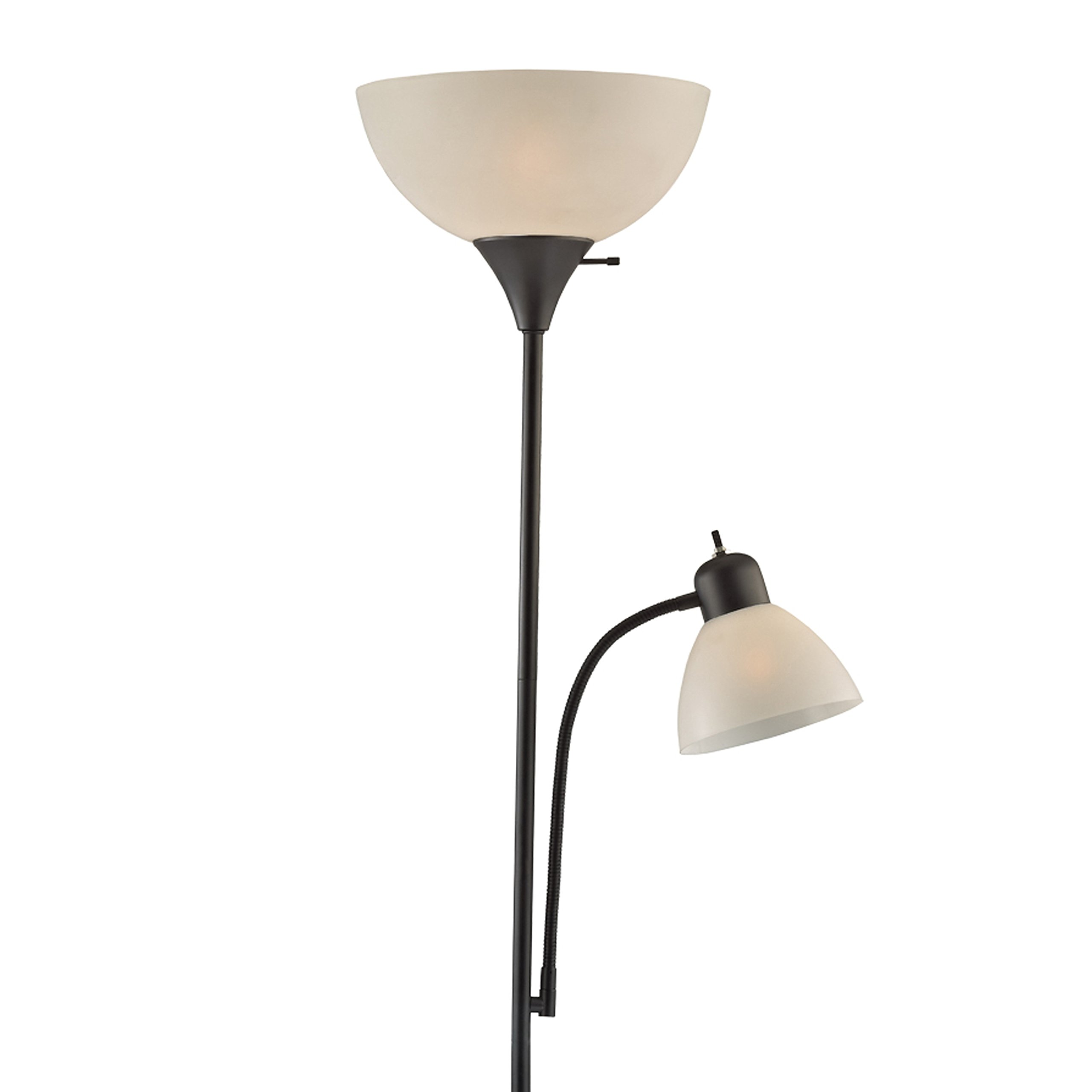 Light Accents SUSAN Floor Lamp 72'' Tall - 150-Watt with Side Reading Light (Black)