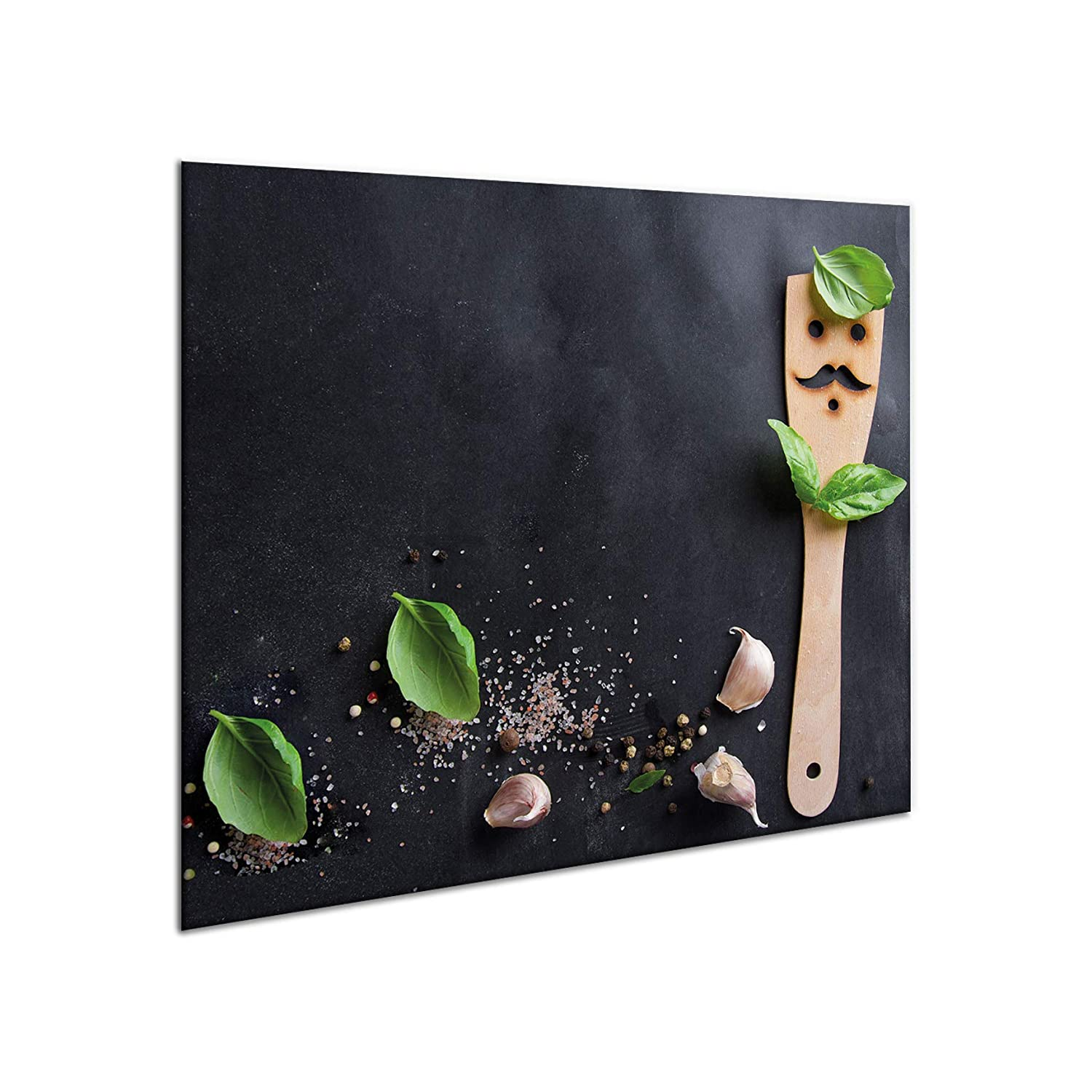 Glass hob protector | Giant chopping board | Splash-back guard | 60cm x 52cm large universal worktop saver for induction electric ceramic halogen cookers | Hardened glass multi-use panel | Stove protector plate | Heat resistant & durable | 10834 grey