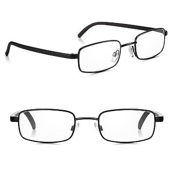 66d8ae7b68b8 Read Optics 2 Pack Black Framed Metal Reading Glasses for Men Women  Non-