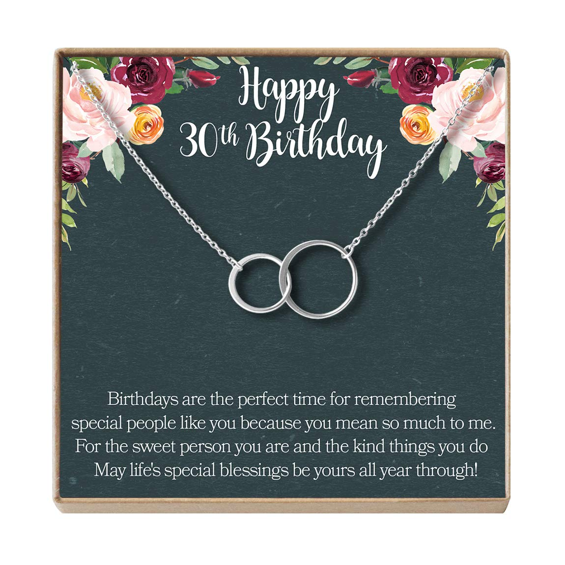 Birthday Gift Jewlery Gift for Her Dear Ava 30th Birthday Gift Necklace 2 Asymmetrical Circles