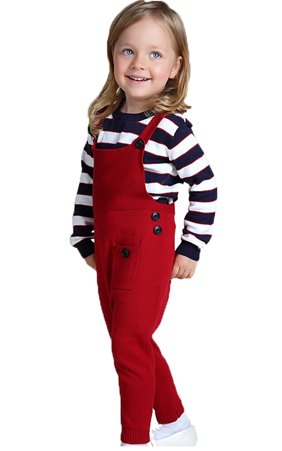 JELEUON Kids Baby Toddler Girl Knit Romper Cotton Jumpsuit Outfits