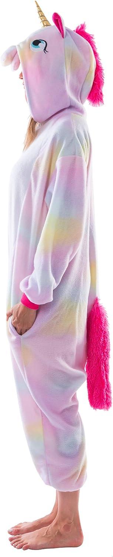 costume da unicorno per adulti Spooktacular Creations Pigiama a tutina in pile unisex