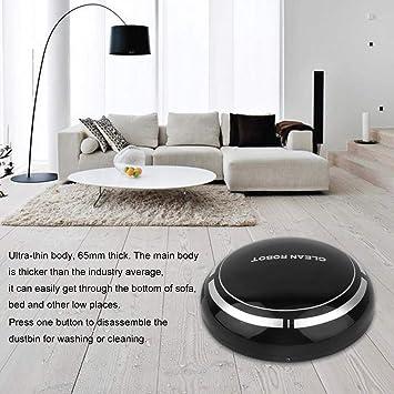 Footprintse Aspirador de Robot de Barrido Inteligente Redondos sin Hilos Multiusos eléctricos Inteligentes Mini Inteligentes para el Color casero: Negro: ...