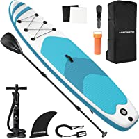 LEADNOVO Inflatable Stand Up Paddle Board for Adults 10.5' with Premium SUP Accessories, Floating Paddle, Hand Pump…