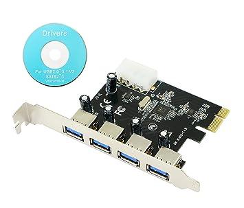 CERRXIAN - Tarjeta controladora PCI Express (4 Puertos USB 3.0 ...