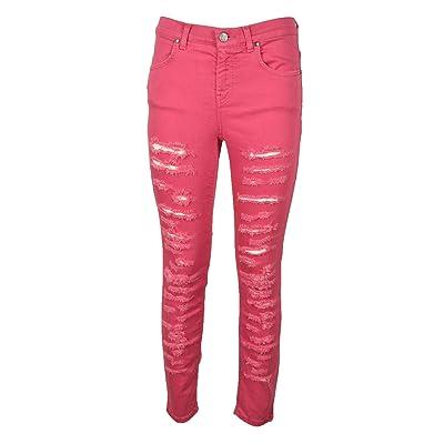 Jeans TWENTY EASY KAOS Donna TWENTY EASY KAOS cod.BL011 Rosa SIZE:42: Ropa y accesorios
