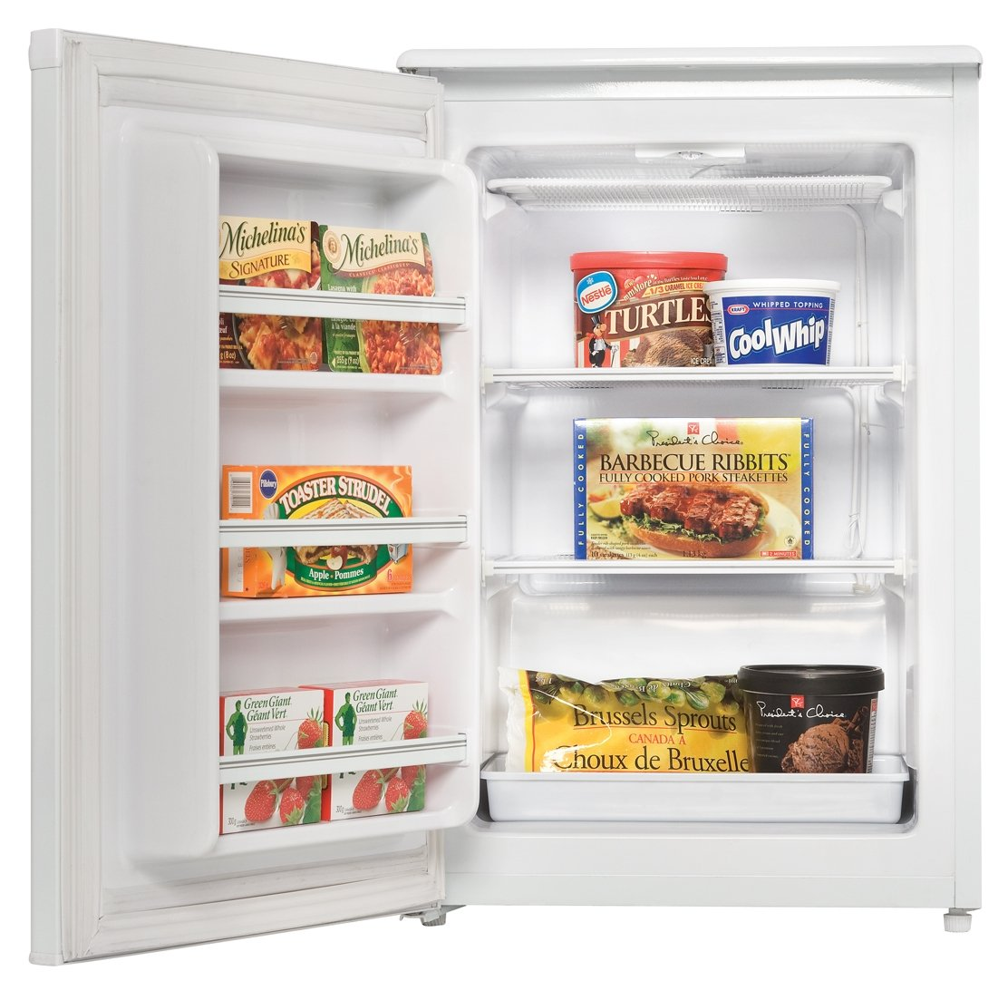 amazoncom danby duf408we 42 cuft upright freezer white appliances