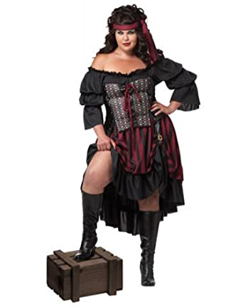 California Costumes Womenu0027s Plus-Size Pirate Wench Plus Black/Burgundy ...  sc 1 st  Amazon.com & Amazon.com: California Costumes Womenu0027s Plus-Size Pirate Wench ...