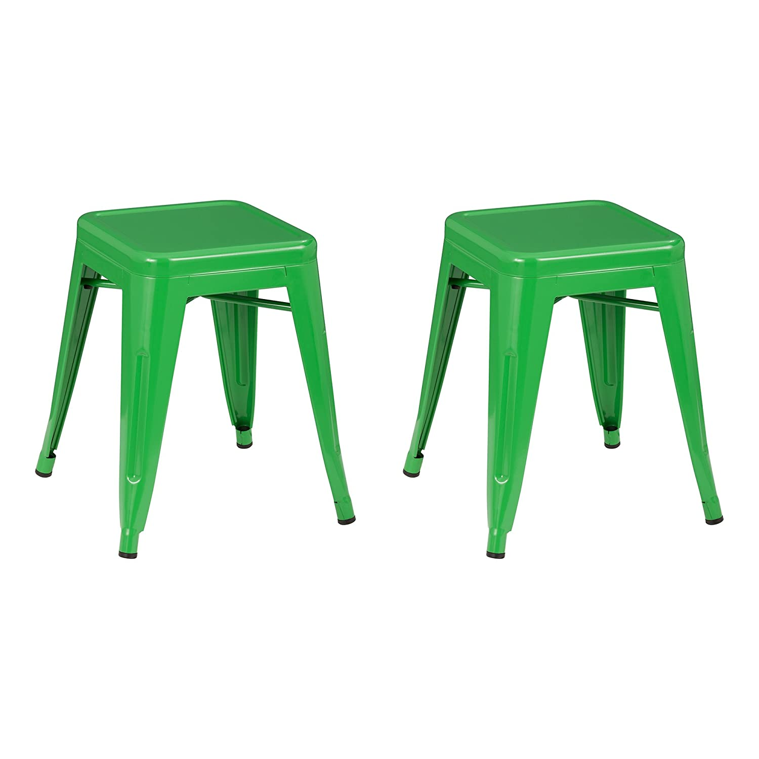 Enjoyable Norwood Commercial Furniture Metal Stack Stool 18 Seat Height Green Nor Xuw3021Gn So Pack Of 2 Onthecornerstone Fun Painted Chair Ideas Images Onthecornerstoneorg