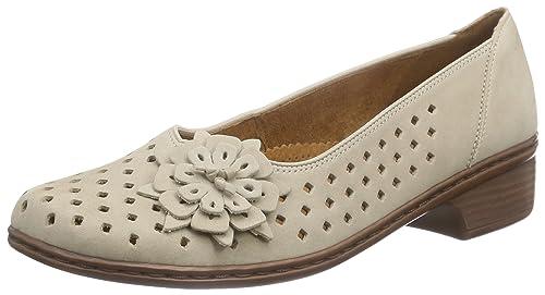 Jenny Rhodos, Mocasines para Mujer, Beige (Cotton 17), 42 EU: Amazon.es: Zapatos y complementos