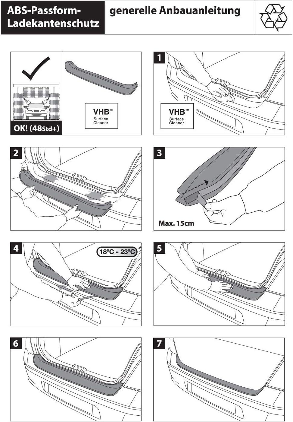 Richard Grant Mouldings Ltd Original RGM Ladekantenschutz schwarz f/ür Opel Meriva B Van Kombi ab Baujahr 06.2010 Aber Nicht Modelle OPC RBP461