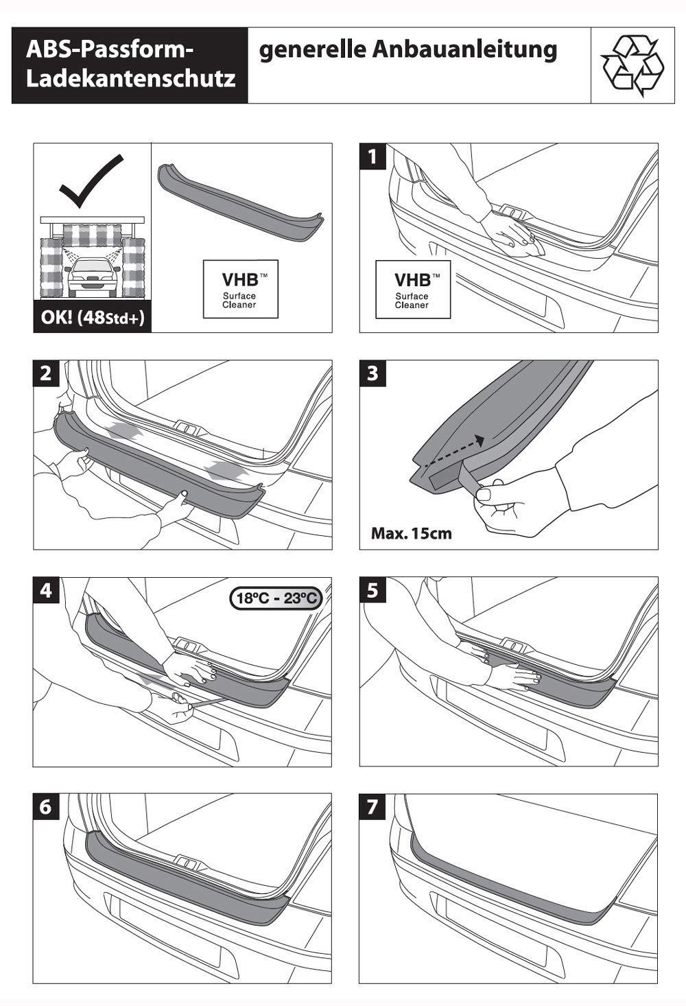 Original RGM Ladekantenschutz schwarz f/ür Ford Focus IV Turnier 4.Gen ab Baujahr 09.2018 RBP337 Richard Grant Mouldings Ltd
