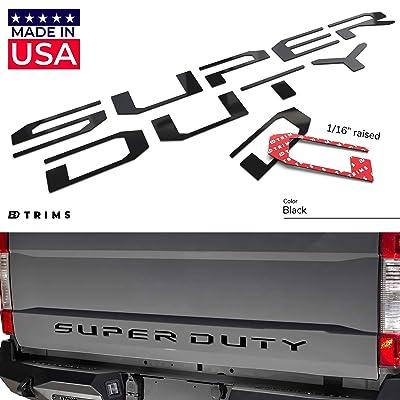 BDTrims Tailgate Raised Letters Compatible with Super Duty Models 2020-2020 (Black): Automotive