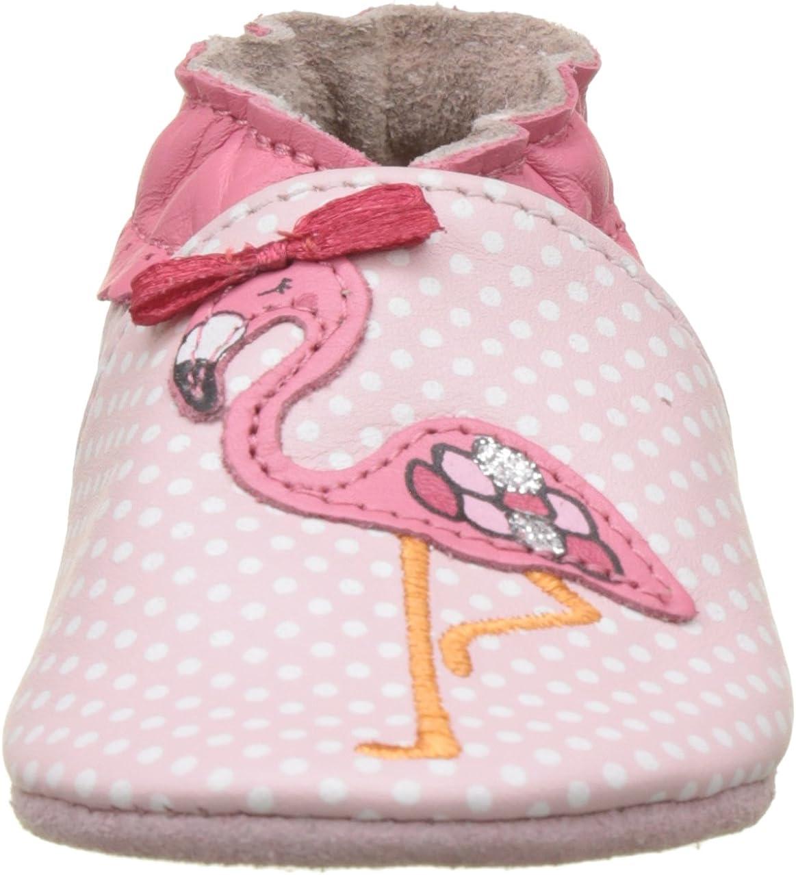 Chaussons b/éb/é Fille Robeez Pink Flamingo