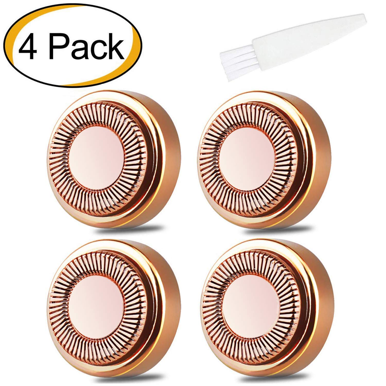 Facial Hair Remover Replacement Heads Flawless for Good Finishing and Well Touch 18K Gold Plated Blades Count 4 ENKOO