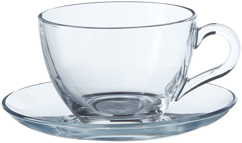 Dajar 64476with 6x Cups 6x Saucers Pasabahce Basic, 200ml 66930