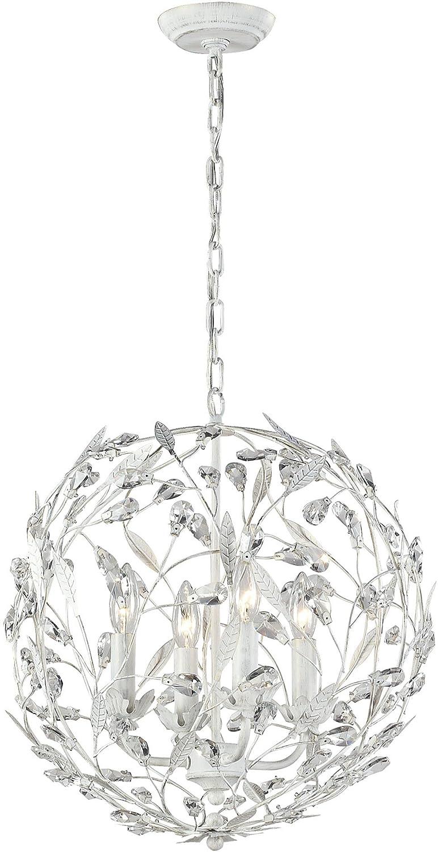 elk lighting circeo collection 4 light pendant antique white amazoncom