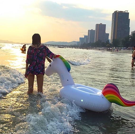 Inflable Gigante de Unicornio Flotador de Helado para piscina ...