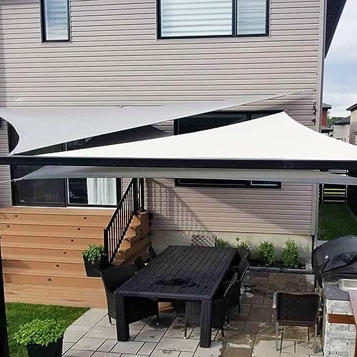 LSXIAO-Malla Sombra De Red Sun Shade Sail Protector Solar Triángulo Anillo De Metal Fácil De Instalar Llevar Patio Exterior, 9 Colores, 3 Tamaños (Color : Gray#B, Size : 3X3X3m): Amazon.es: Hogar
