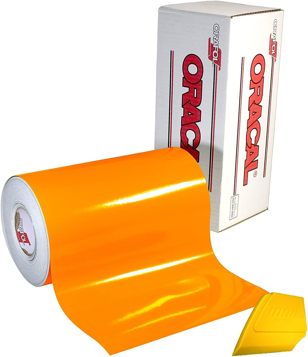 Silhouette /& Cameo plotters VViViD DECO65 Neon Fluorescent Orange Permanent Adhesive Crafting Vinyl Roll 12 Inches x 5 Feet Gloss High Grade Industrial Strength Film For Cricut