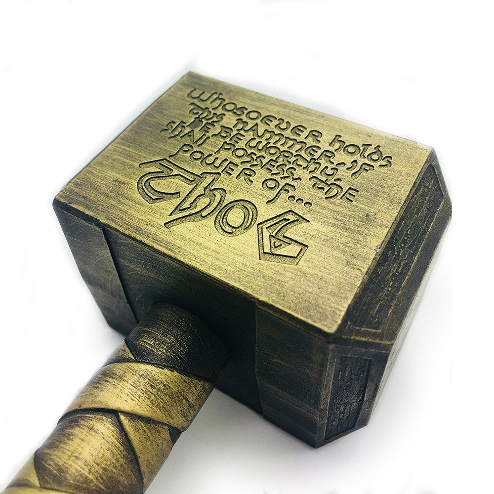 Ansley&HosHo divertente birra apribottiglie a forma di martello di Thor, apribottiglie birra per feste pub bar regali vino cavatappi Beverage chiave argento/bronzo 16.5*7*4.5cm, Bronze, 16.5×7×4.5cm