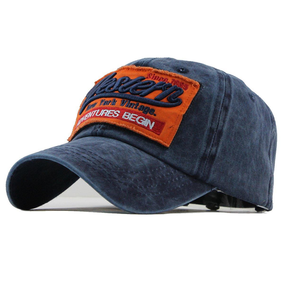 Sporty Trucker Baseballcap Western New York Cotton Distressed Snapback Vintage Cap