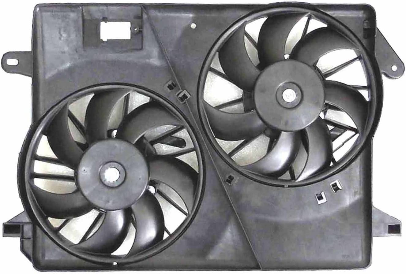NEW DUAL RADIATOR /& CONDENSER FAN ASSEMBLY FOR 2009-2016 CHRYSLER 300 CH3115184