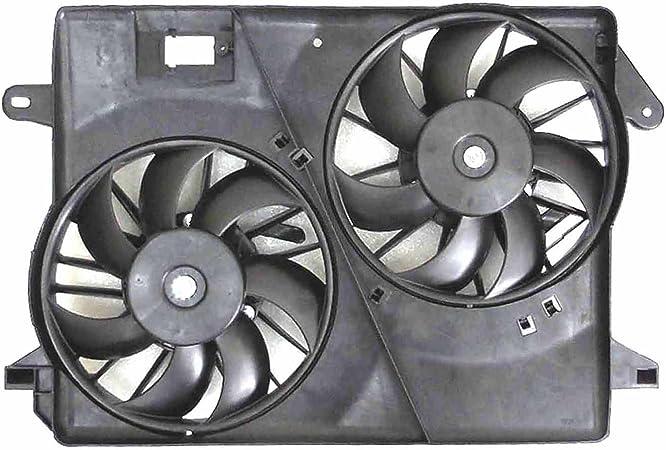 Dual radiador y ventilador de condensador para Chrysler 300, Dodge Challenger, de batería: Amazon.es: Coche y moto