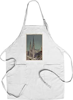 product image for New York, NY - St. Patricks Cathedral Surroundings (Cotton/Polyester Chef's Apron)