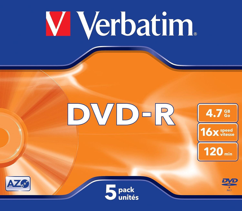 VERBATIM DVD-R 4,7 Gb (pack de 5): Amazon.es: Electrónica
