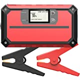 VicTsing 1000A Peak 20800mAh Portable Car Jump Starter (Up to 8.0L Gas, 6.0L Diesel Engine), Auto Battery Booster with LCD Screen, Built-in LED Light, Smart QC 3.0 Quick Charging Port for Smartphones