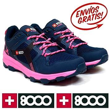 +8000 trilen W - Botas de Senderismo de la Mujer, Mujer, Trilen W, Navy Blue/Pink, Talla 41: Amazon.es: Deportes y aire libre