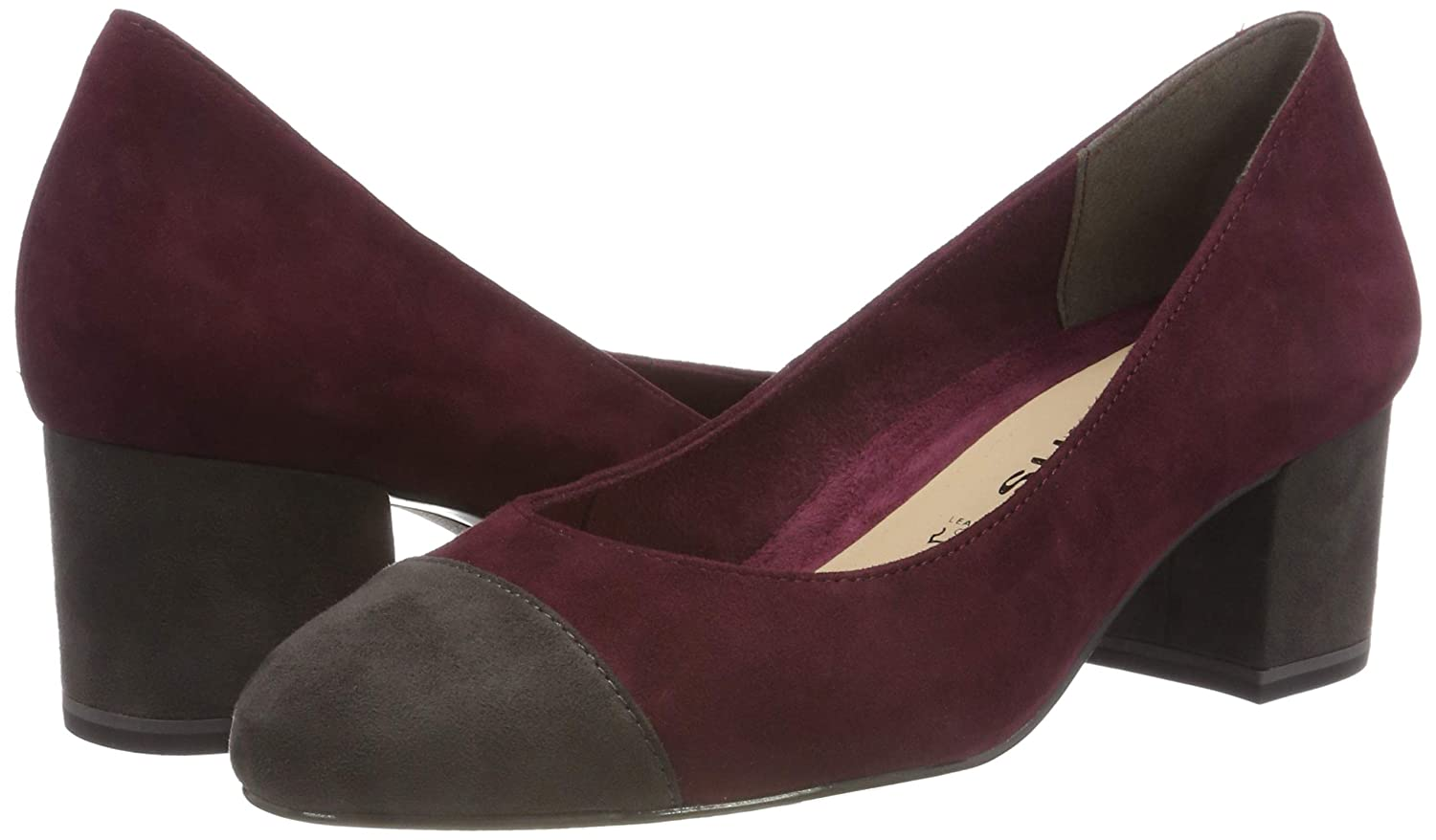 Tamaris Damen 22400-21 (Merlot/Anthra. Pumps Rot (Merlot/Anthra. 22400-21 511) 973137