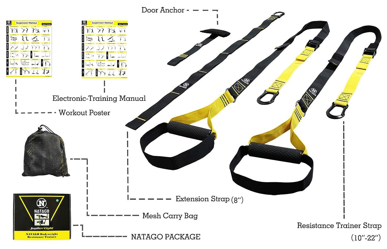Amazon com : NATAGO Jupiter Light Resistance Training Kit : Sports
