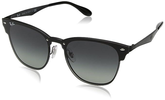 Amazon.com  Ray-Ban The Blaze Square Sunglasses, Demi Gloss Black ... f9c58cac7f