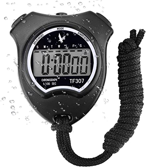 NUOVA LCD digitale sport cronometro palmare temporizzata Cronometro Timer Orologio Allarme Regno Unito
