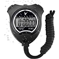 Digital Sport Stopwatch Timer, Handheld Chronograph Digital Stopwatch with Alarm/Calendar Suits for Swimming Running Football Training, Shockproof Sport Stopwatches for Coaches Referee Equipment